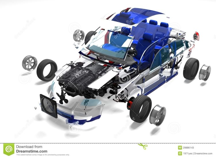 disassembled-car-white-background-29886143